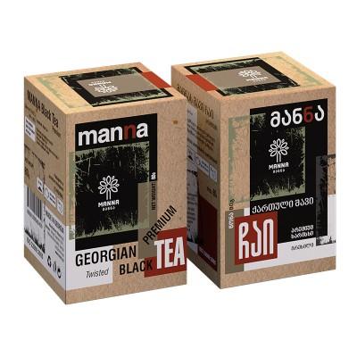 """""""მანნა"""" ქართული შავი ჩაი 80 გრ."""